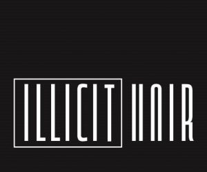 ILLICIT HAIR hairdressers logo and pricelist